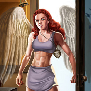 Character Design of Angel from Public Justice by Bill Heimanson